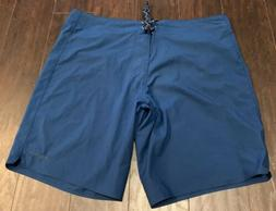 PATAGONIA 35 Blue Laced Fly Swim Trunks Unlined Board Shorts