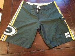 Quiksilver Board shorts Green Bay Packers sz 38 Rodgers beac