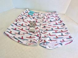 Chubbies swim trunks Shorts Large, White With Skis And A Boo