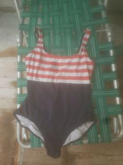 Vtg Tommy Hilfiger Swimsuit 12 Nautical All American